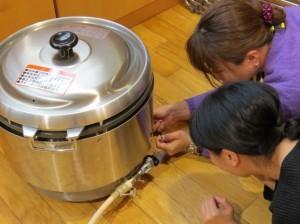 急遽大活躍!ガス炊飯器、初めて使った・・・