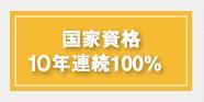 国家資格10年連続100%